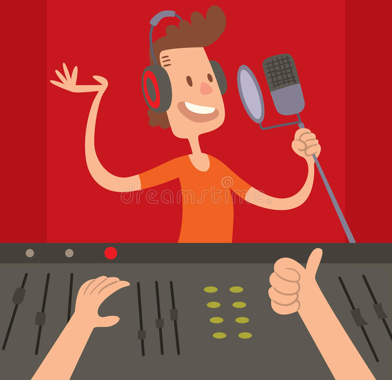 Free Sound Record Studio Producer Working Together At Mixing Panel In The Boutique Vector Illustration. Stock Photo - 68479410