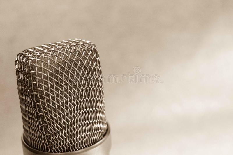 Sound recording studio for musicians, radio presenters and dubbing actorsProfessional audio equipment stock photography