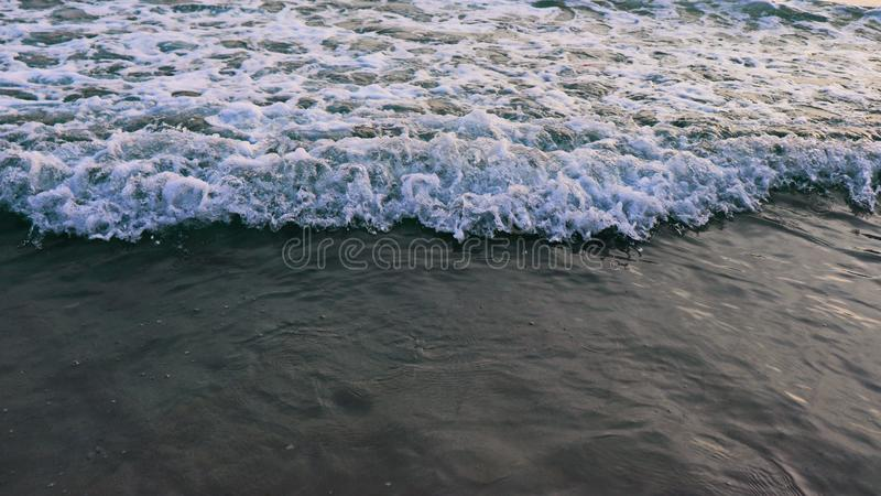 Sound of sea wave and beautiful water pattern stock photos
