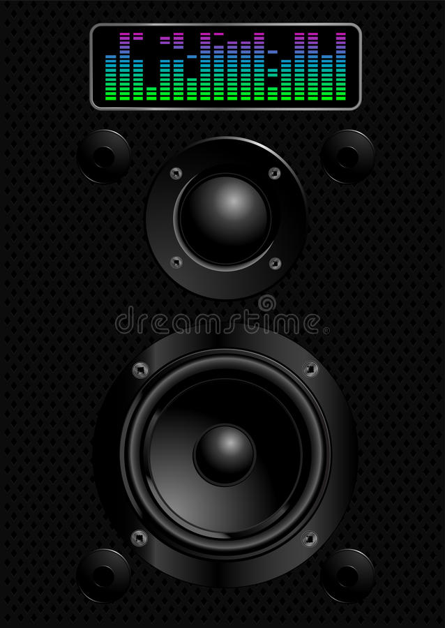 Download Sound speakers stock vector. Image of playing, record - 22330953