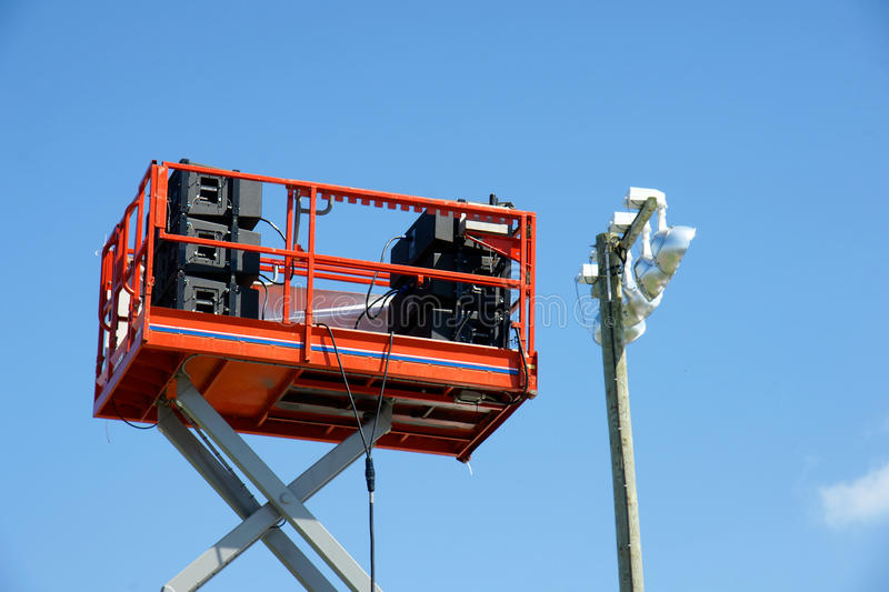 Download Sound Speakers On Lift Platform Royalty Free Stock Photography - Image: 26856967