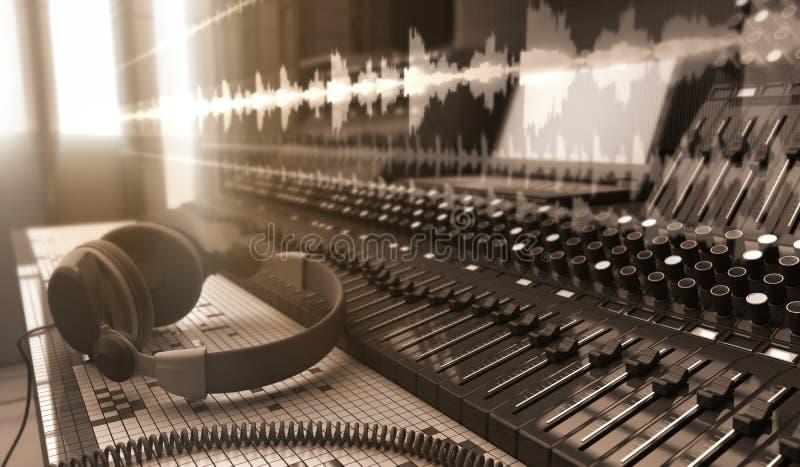sound studio vektor illustrationer