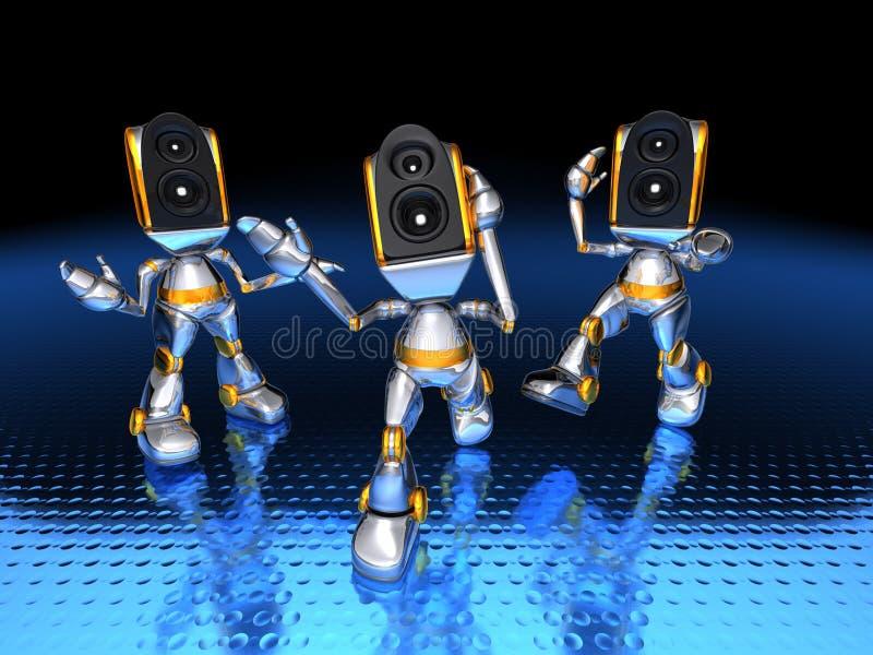 sound system för robotar vektor illustrationer