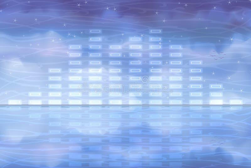 sound vatten för utjämnare stock illustrationer