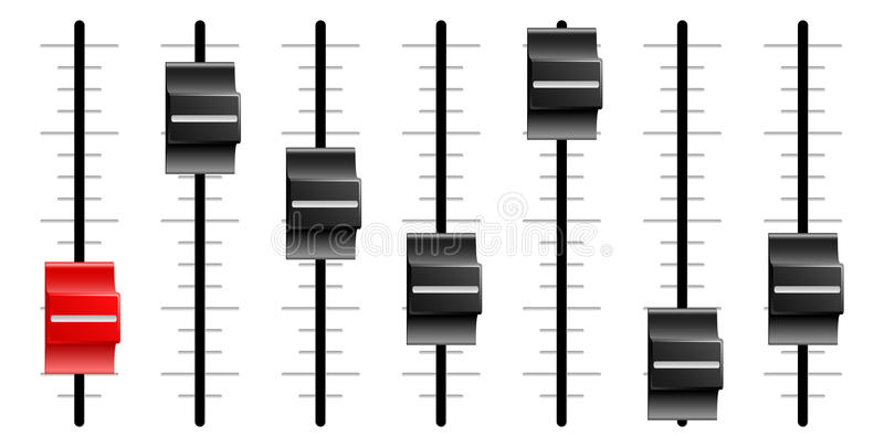 Download Sound Or Video Control Board Sliders Or Faders Stock Vector - Illustration: 22645017