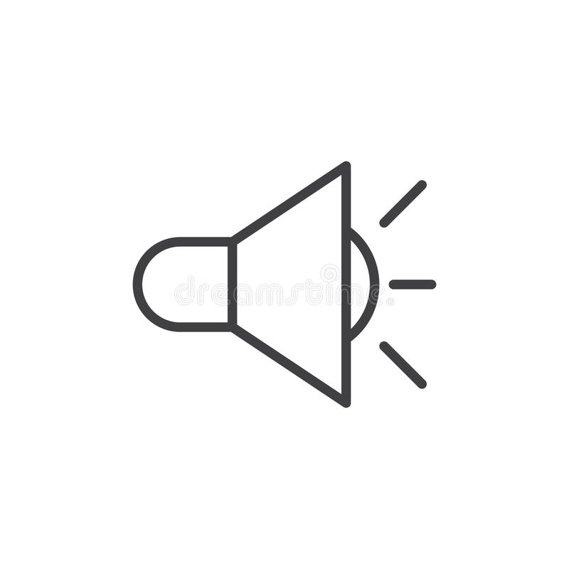 Sound volume line icon, outline vector sign, linear style pictogram isolated on white royalty free illustration
