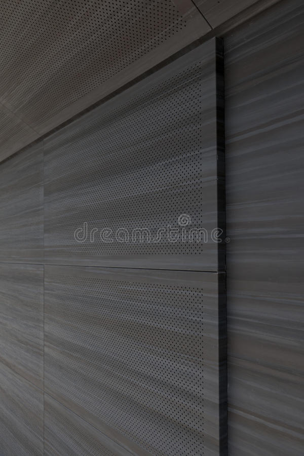 Sound wall in theater with a glass roof. For better absorption royalty free stock image