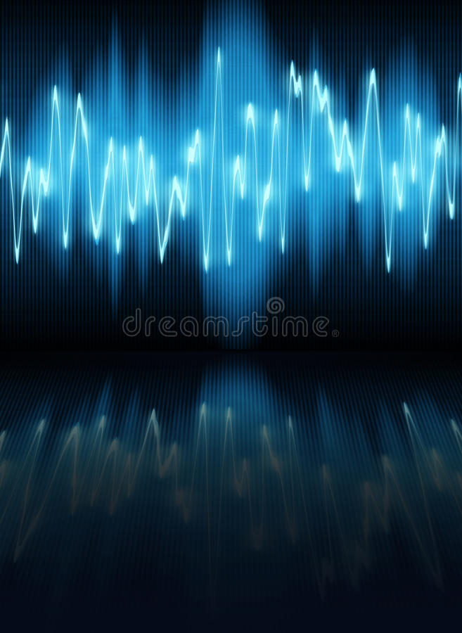 Download Sound wave stock illustration. Illustration of diagram - 10941643
