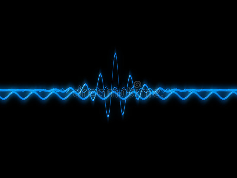 sound wave vektor illustrationer