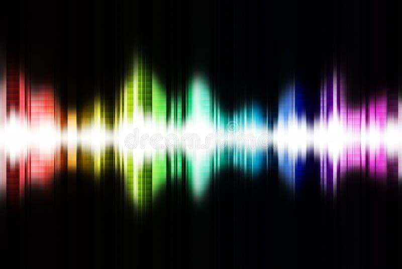 sound wave vektor illustrationer