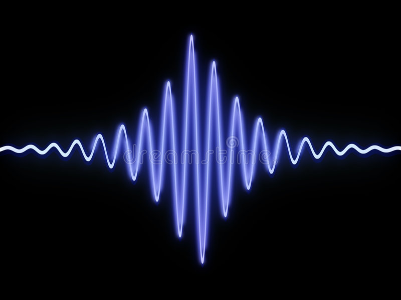 Sound wave stock illustration