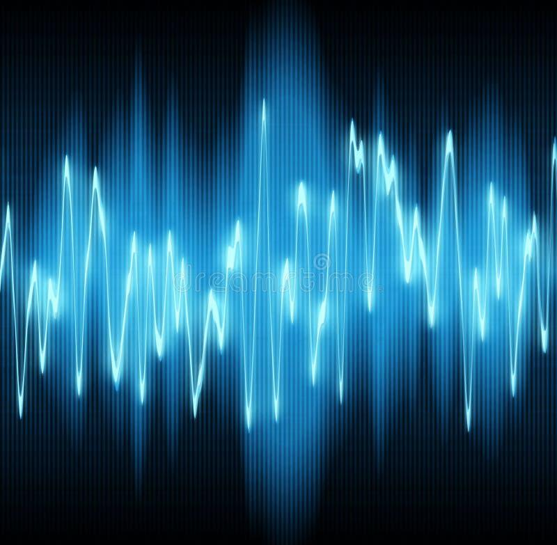 Sound wave. S oscillating on black background