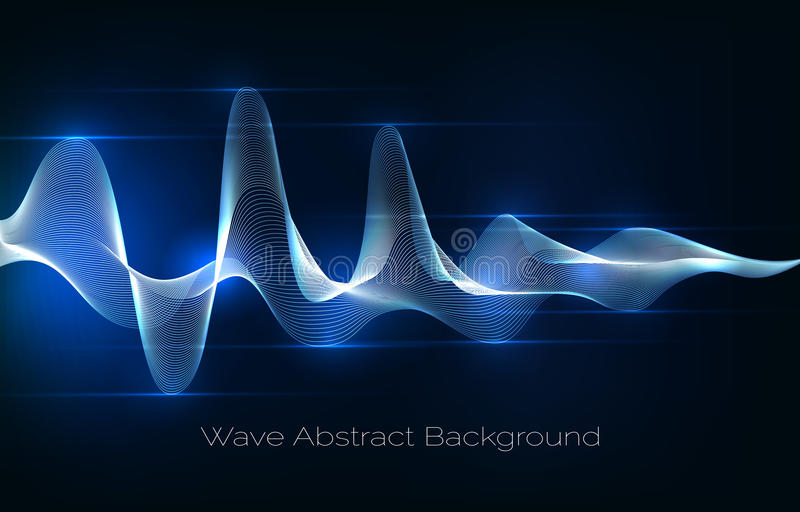 Sound wave abstract background. Audio waveform vector illustration royalty free illustration