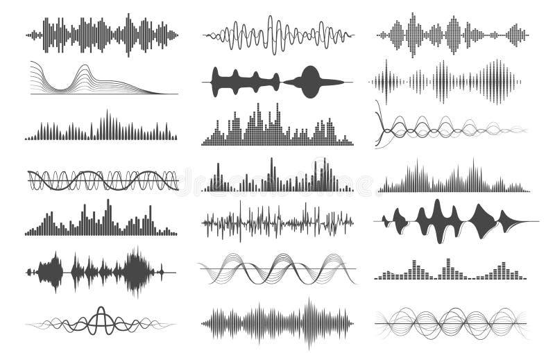 Sound wave charts stock illustration