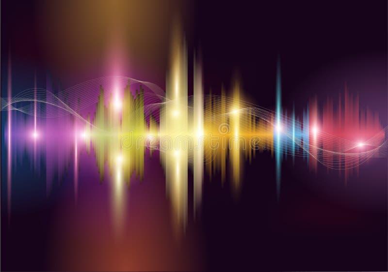 Sound wave. Colorful sound wave. Vector background