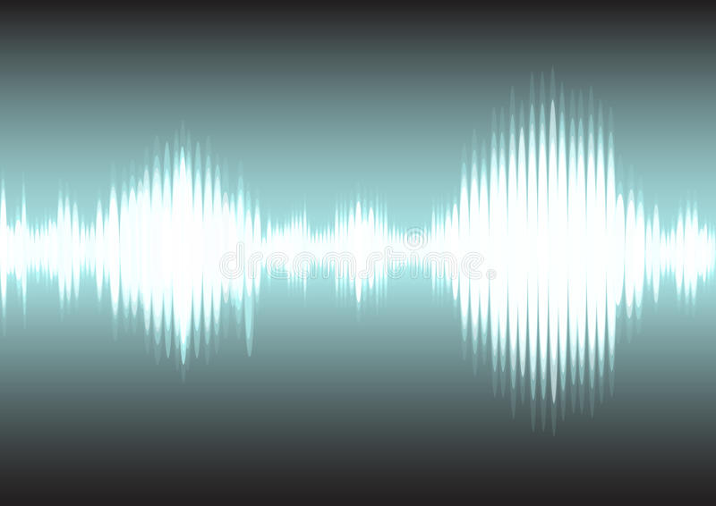 Sound wave and electric signal background stock photography