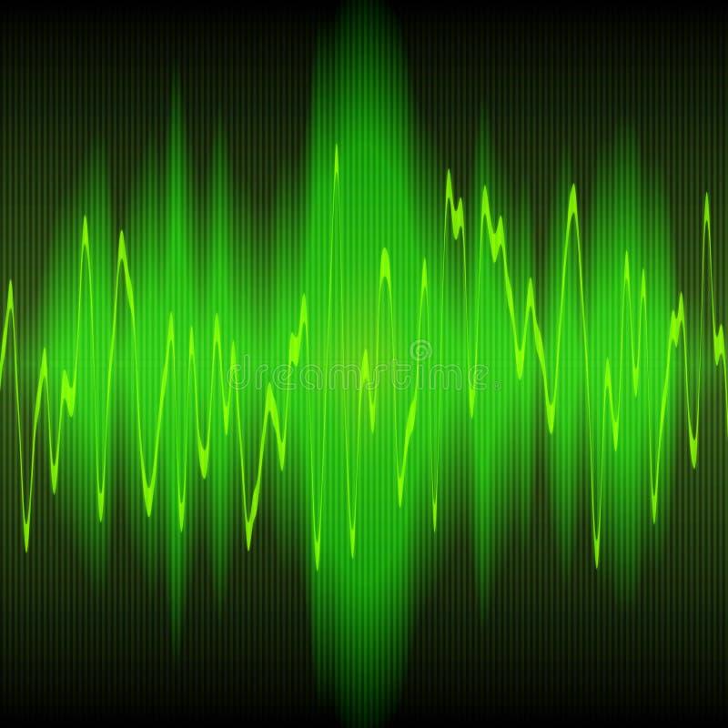 sound wave för abstrakt energi royaltyfri illustrationer