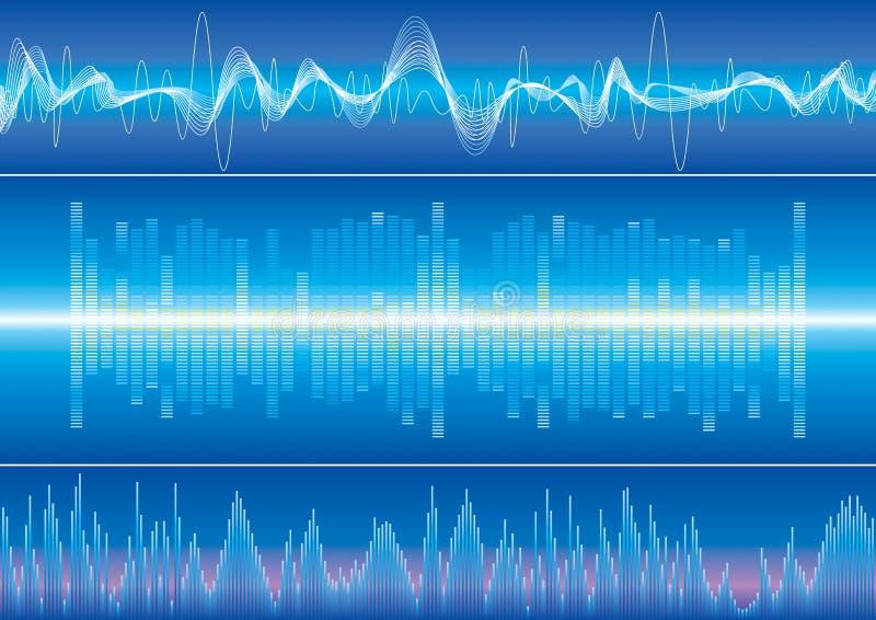 sound wave för bakgrund vektor illustrationer