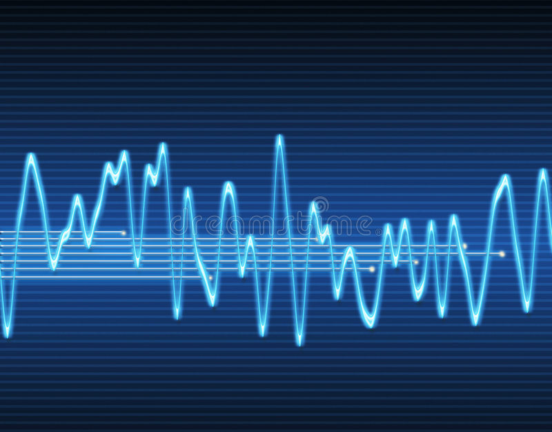 sound wave för elektronisk sinus stock illustrationer