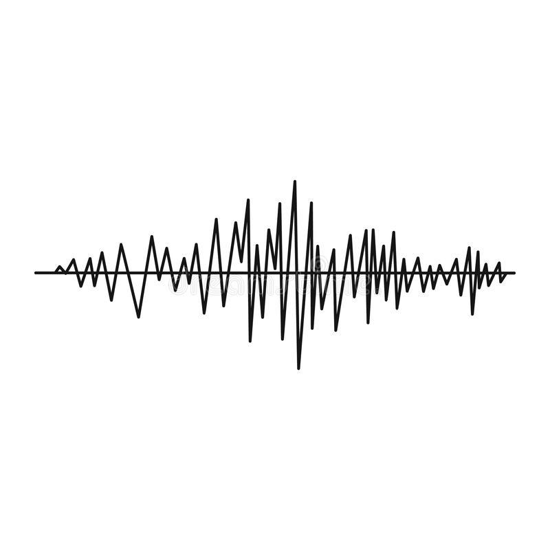 sound wave icon  simple style stock vector