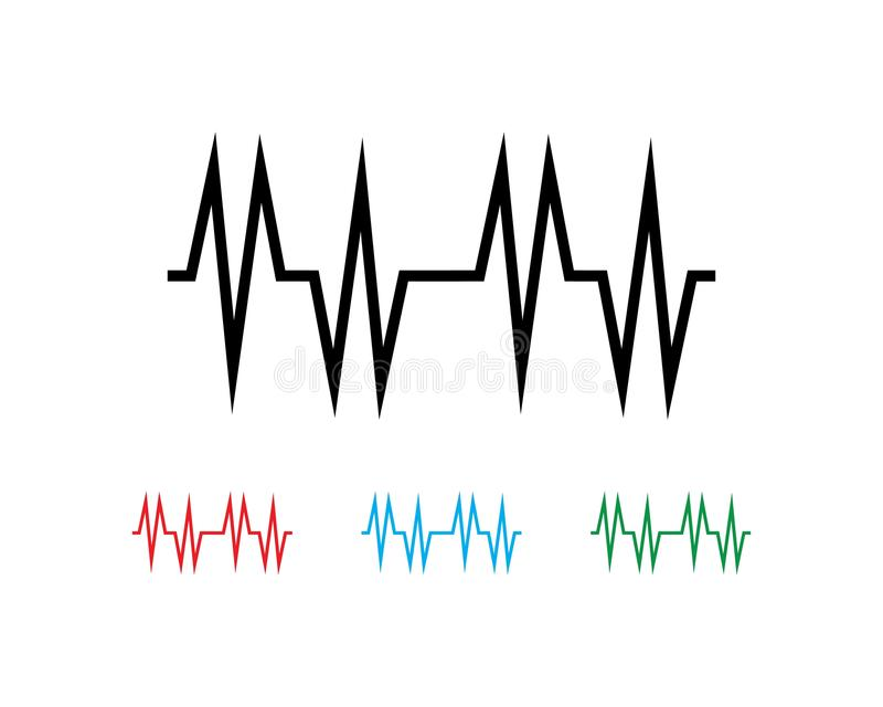 Sound wave ilustration logo. Vector icon template pulse heart line heartbeat illustration health background design medical abstract cardiogram technology symbol vector illustration