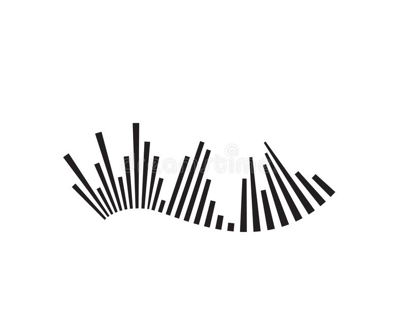 sound wave ilustration logo vector icon template vector illustration