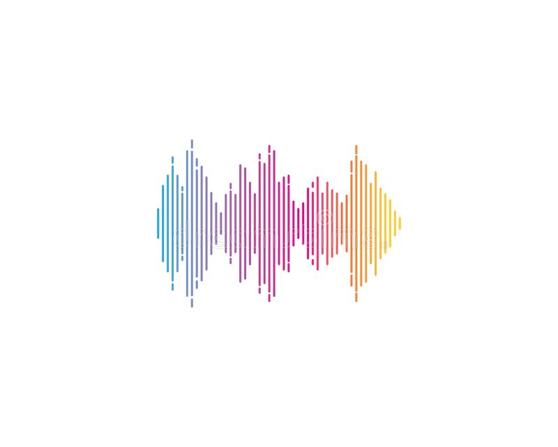 sound wave ilustration logo vector icon vector illustration