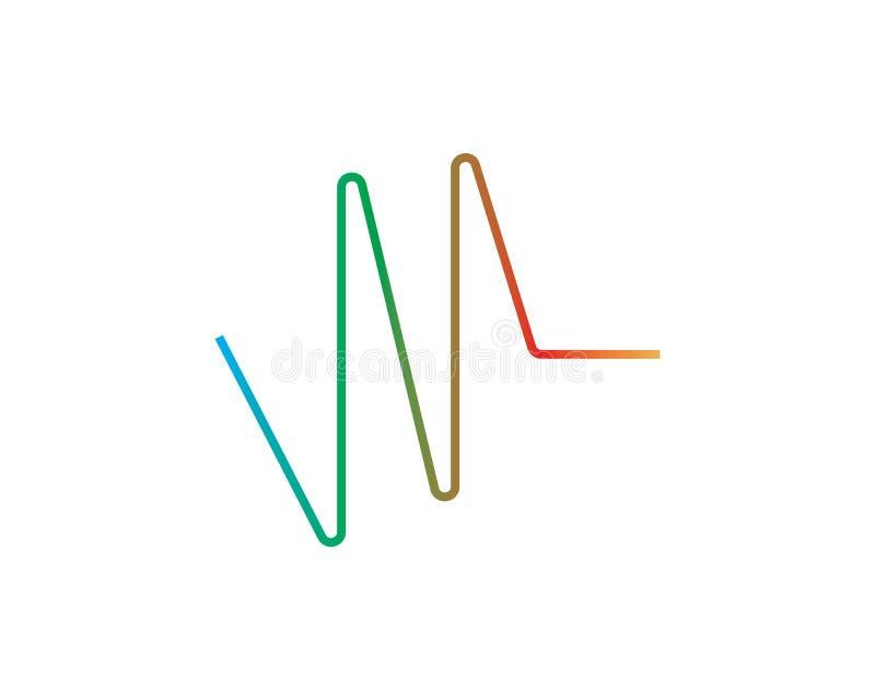 sound wave ilustration logo stock illustration