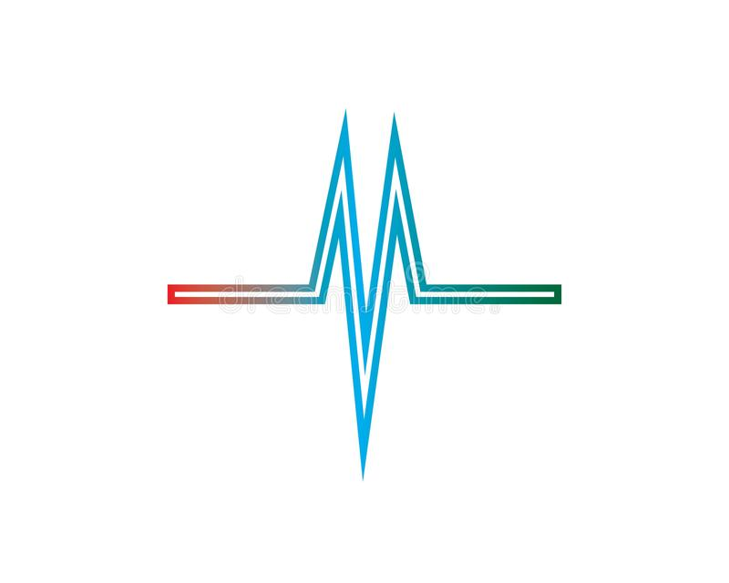 sound wave ilustration logo royalty free illustration