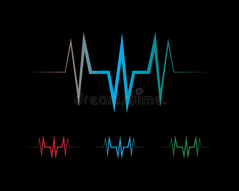 sound wave ilustration logo vector illustration