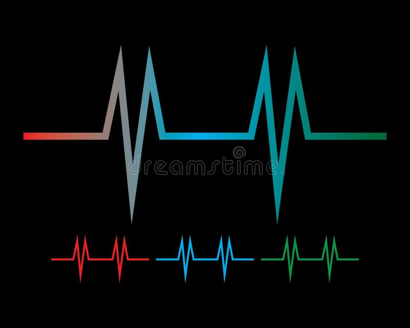 Sound wave ilustration logo. Vector icon template pulse heart line heartbeat illustration health background design medical abstract cardiogram technology symbol stock illustration