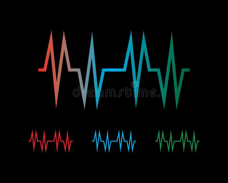 Sound wave ilustration logo. Vector icon template pulse heart line heartbeat illustration health background design medical abstract cardiogram technology symbol royalty free illustration