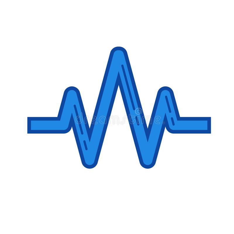 sound wave line icon stock vector illustration of frequency rh dreamstime com sound wave vector graphic free sound wave vector free download