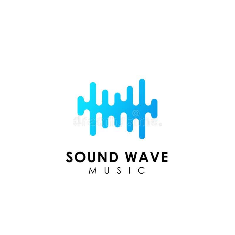 sound wave logo design. music logo icon designs vector illustration