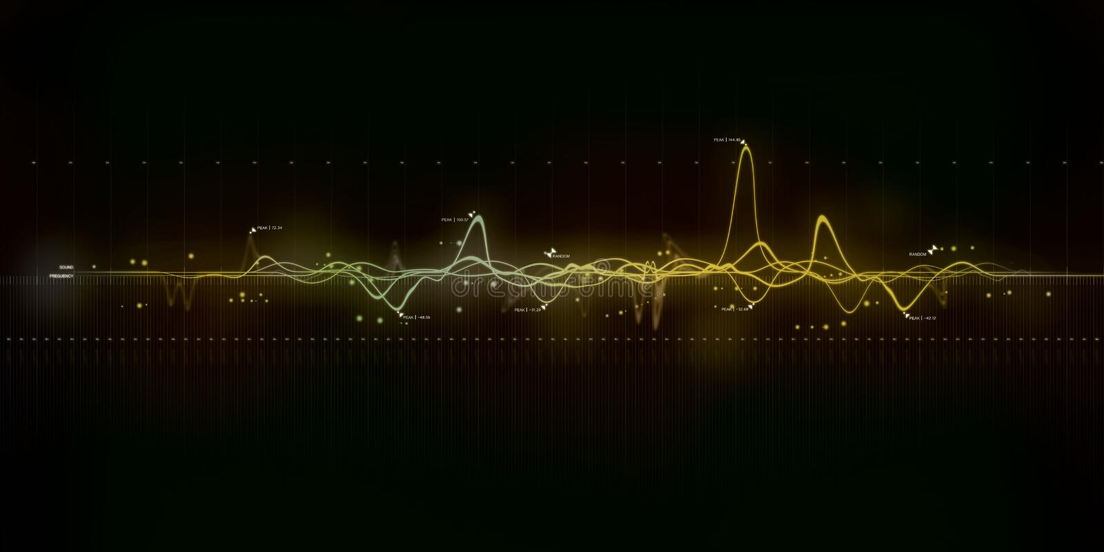 Sound wave modern art royalty free stock images