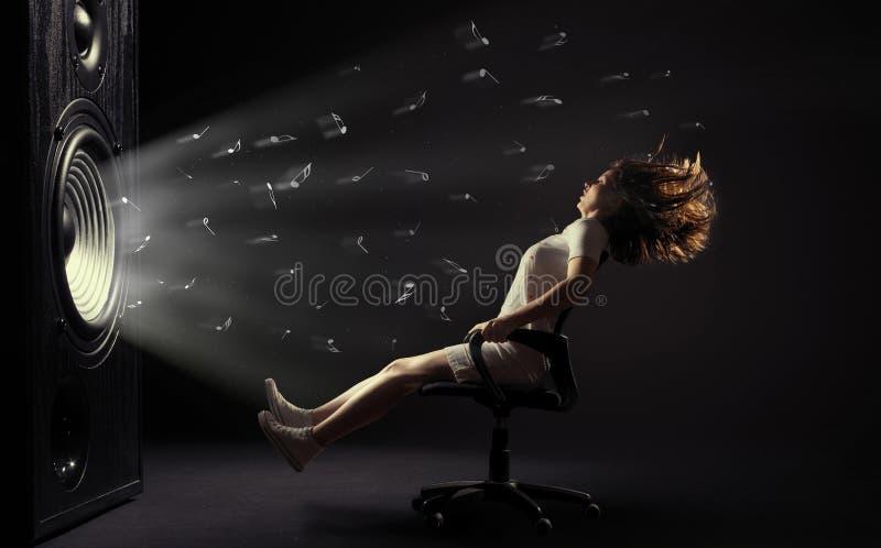 Powerful sound wave stock photos