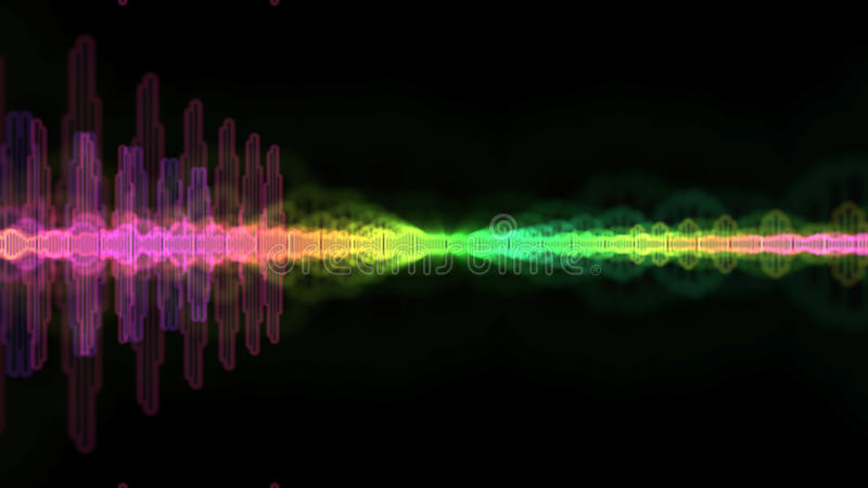 Equaliser Audio Sound Wave Spectrum Background vector illustration