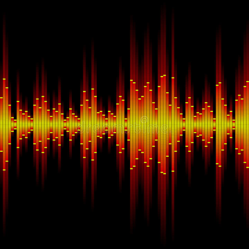 Sound waveform. Seamless vector illustration of a sound waveform royalty free illustration