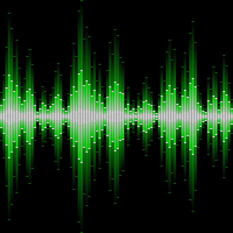 Sound waveform. Seamless vector illustration of a sound waveform stock illustration