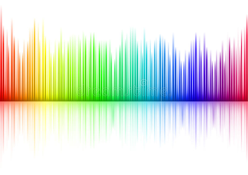 Sound waveform. Colorful Sound waveform (editable vector) on white stock illustration