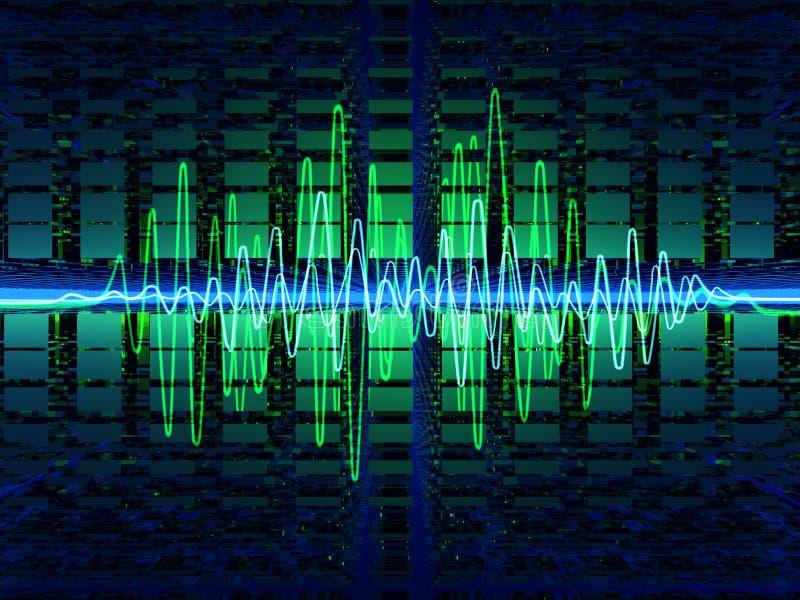 sound waves stock illustrationer