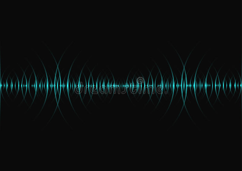 Sound waves, Abstract technology background royalty free illustration