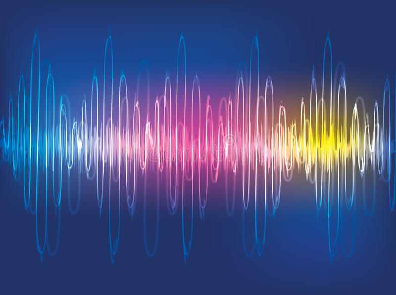Download Sound waves Background stock illustration. Illustration of sound - 22662844
