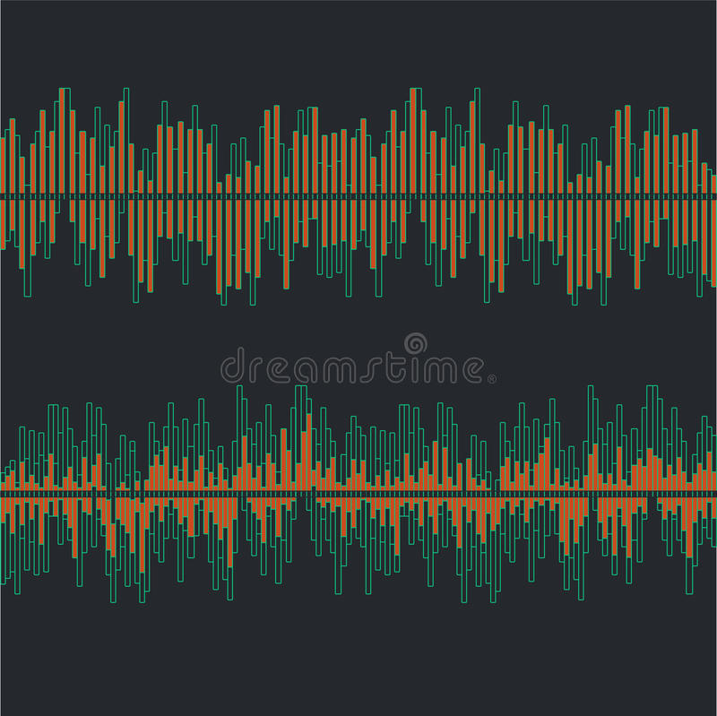 Sound waves collection on gray background flat isolated - vector stock illustration