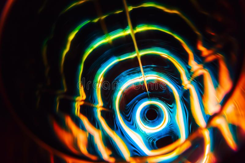 Sound waves in the dark in full color. Sound waves in the visible full color in the dark royalty free stock images