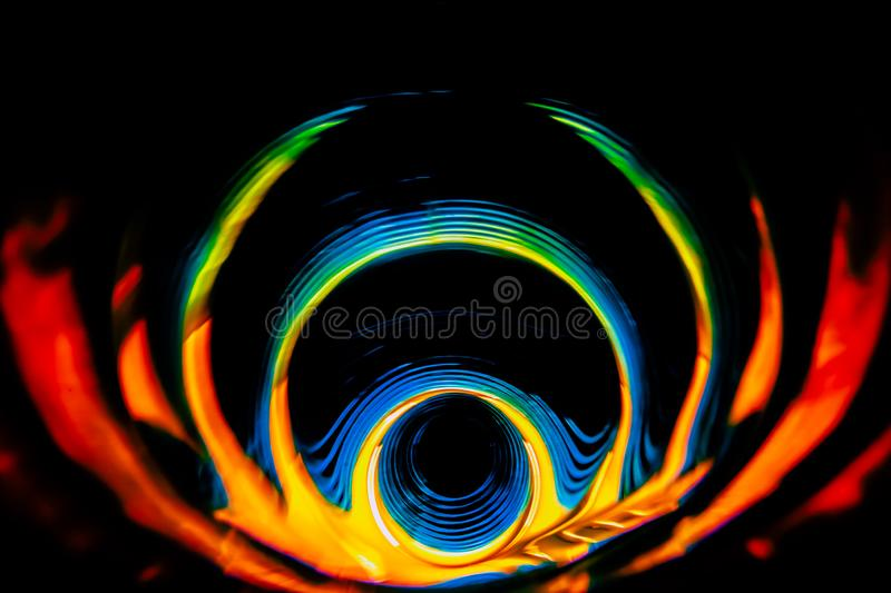 Sound waves in the dark in full color. Sound waves in the visible full color in the dark royalty free stock photos