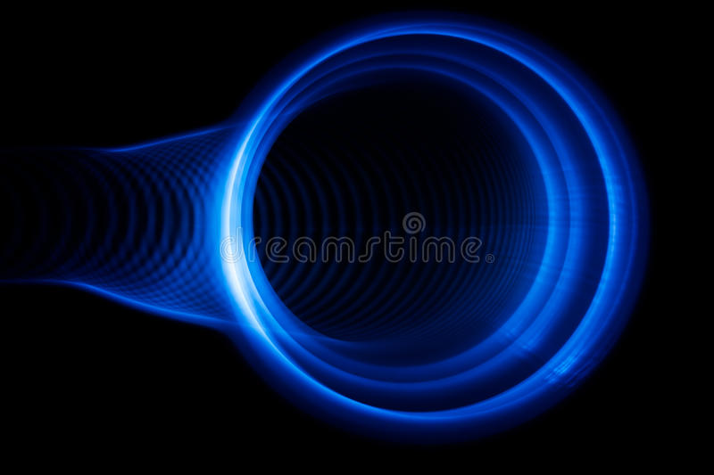 Sound waves in the dark. Sound waves in the visible blue color in the dark royalty free illustration