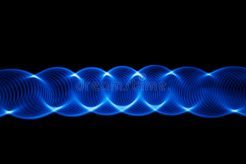 Sound waves in the dark stock photos