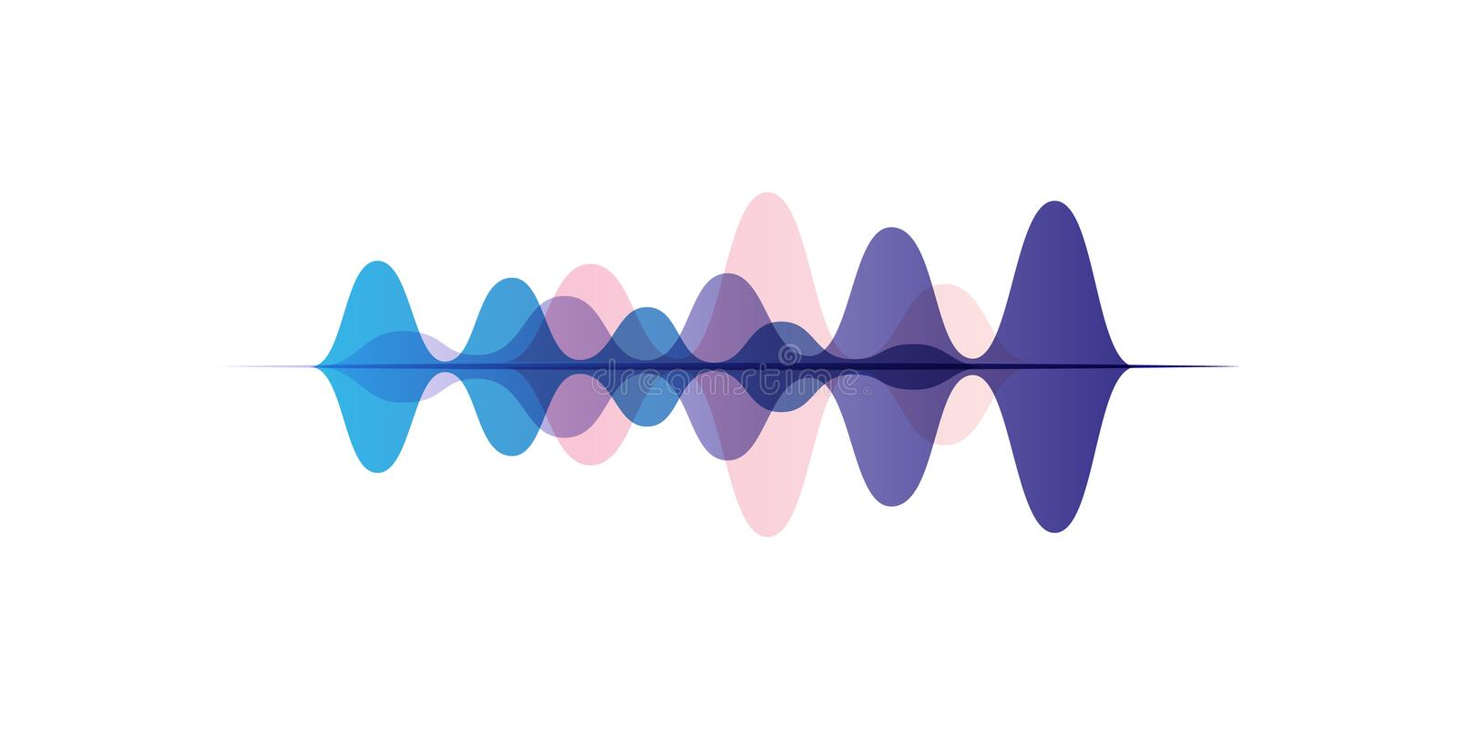 Sound waves of different colors, audio digital equalizer technology, vector Illustration on a white background vector illustration