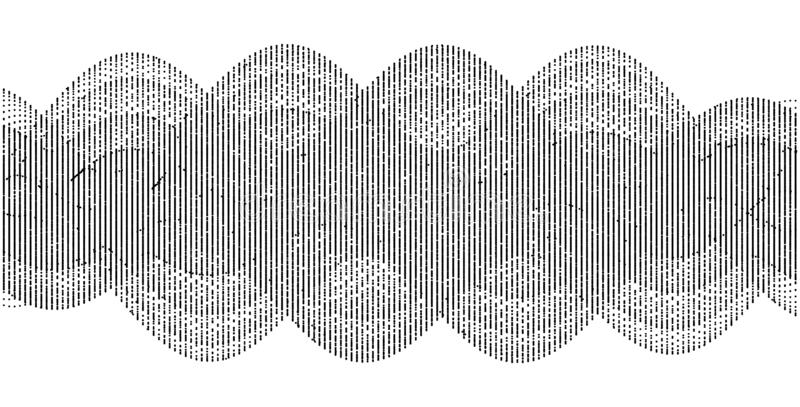Sound waves. Dynamic effect. Vector illustration with particle. 3D grid surface.  vector illustration